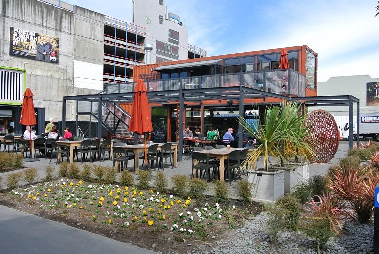 Koffietent annex zeecontainer Christchurch
