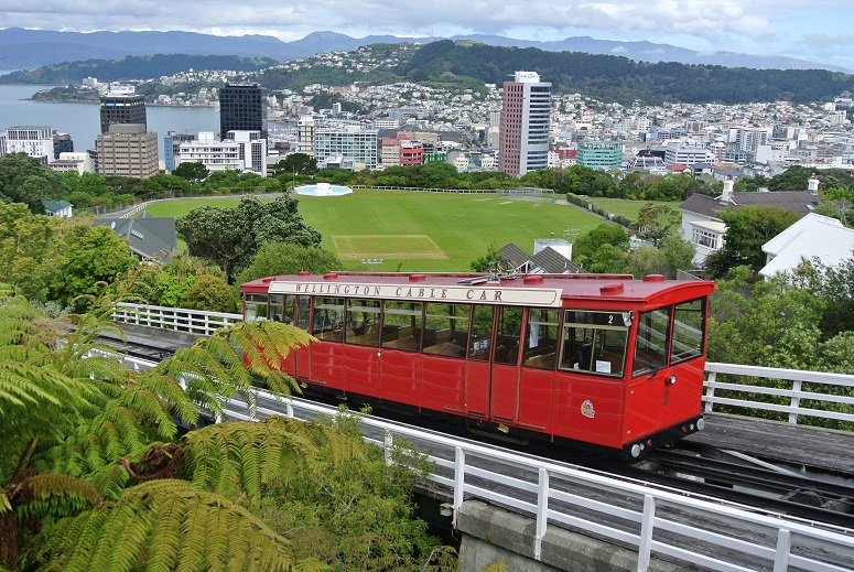 tram in Wellington, Nieuw-Zeeland