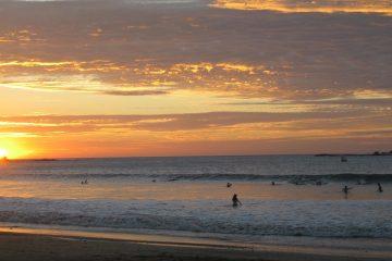 Zonsondergang Tamarindo, surfen Costa Rica