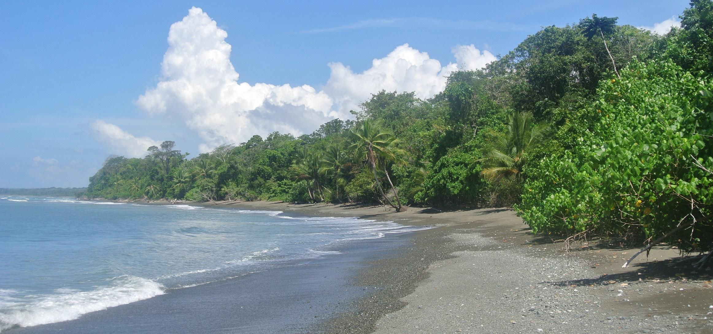 Strand bij Corcovado NP, Costa RIca
