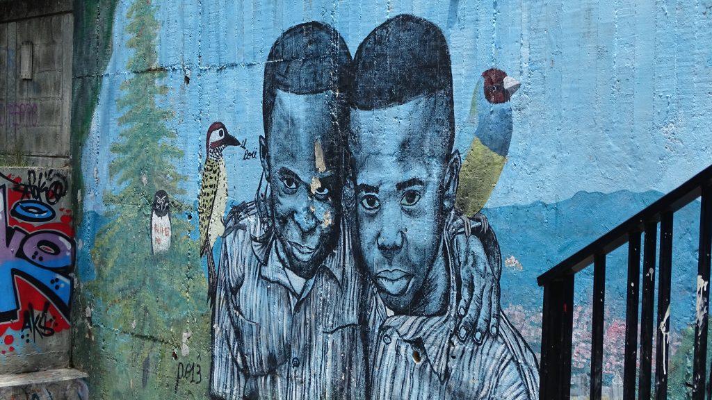 Graffiti in Comuna 13, Medellín, Colombia