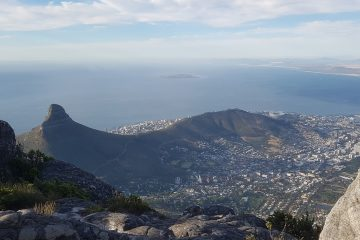 Uitzichtvanaf de Tafelberg, Kaapstad, Zuid-Afrika