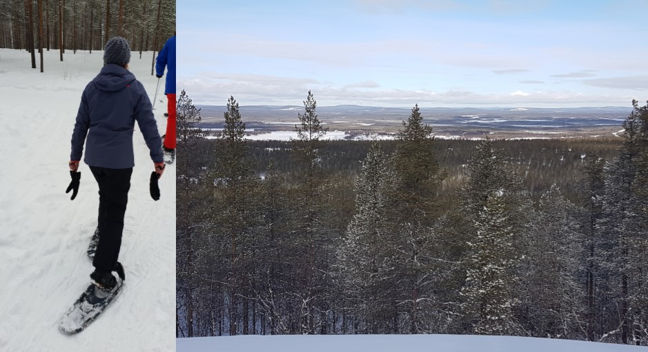 Sneeuwschoenwandeling, Levi, Fins Lapland