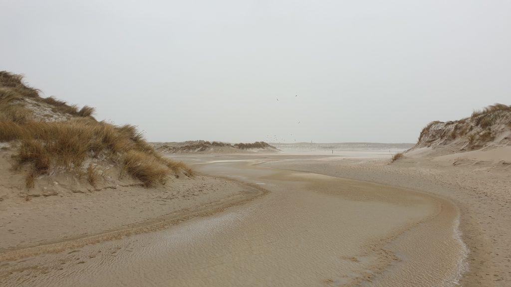 Wandelen bij de Slufter op Texel